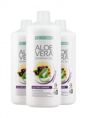 Aloe Vera Drinking Gel Açaí Pro Summer 3er Set
