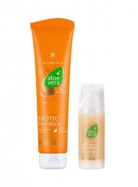 LR ALOE VIA Limitiertes Aloe Vera Exotic Papaya Face Care-Set