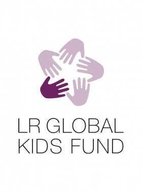 LR Global Kids Fund Aufkleber schwarz