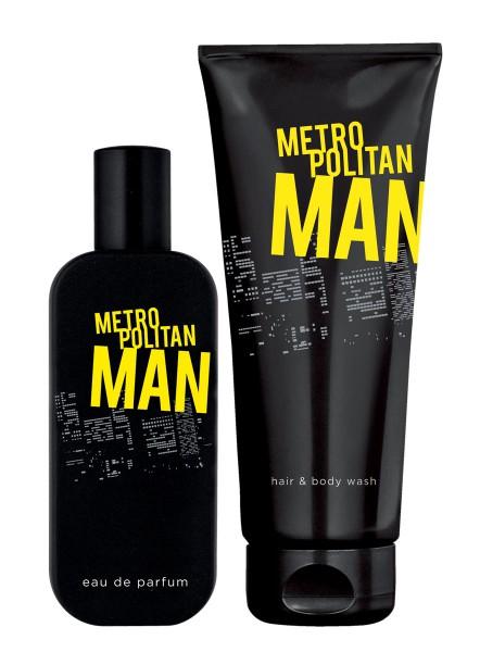 Lr-produktverkauf.de Metropolitan Man Duft-Set I: EdP & Parfümiertes Haar- und Körper-Shampoo